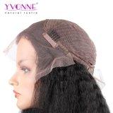 Dichte-verworrene gerade Spitze-Vorderseite-Menschenhaar-Perücken Yvonne-180% für schwarze Frauen-brasilianisches Jungfrau-Haar-natürliche Farbe