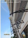 Écran extérieur de Sun de grand polycarbonate pour la porte et le balcon (YY-H)