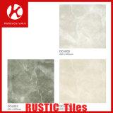Halb Polierporzellan-rustikale Fliese, hellbrauner glasig-glänzender Fußboden und Wand-Keramikziegel