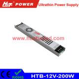 12V-200W alimentazione elettrica ultrasottile di tensione costante LED