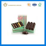 Rectángulo de regalo de empaquetado del chocolate rígido de papel de la cartulina con la bandeja (rectángulo impreso alta calidad del chocolate)