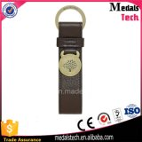 昇進の記念品のカスタム方法金属のロゴの革ベルトKeychain