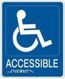 Contrassegno tattile del Ada del Braille del grado 2