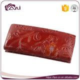 Оптовый бумажник пасспорта женщин кожаный цветка PU выбитый