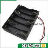 support de la batterie 5AA avec fils de fil rouges/noirs