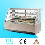 Refrigerador quadrado do bolo com mármore branco