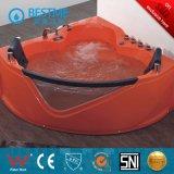Bañera de acrílico del masaje de interior de la esquina de la buena calidad de Freestading (BT-A384)