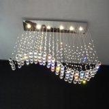 Lámpara cristalina moderna ligera pendiente del acero inoxidable para la sala de estar casera 8002-6 de la decoración