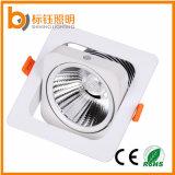 Ce & RoHS éclairage encastré intérieur 15W mince COB LED Downlight aluminium