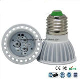 Ce ed indicatore luminoso dei Rhos E27 3W LED