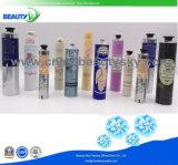 Haut-Sorgfalt-kosmetische Sahne-verpackenhandweiches zusammenklappbares Sahnealuminiumgefäß