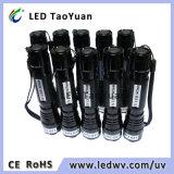 Schwarze helle Taschenlampe verwendet 365nm 3W