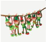 Giocattolo su ordinazione dell'elfo della peluche del giocattolo della decorazione di natale