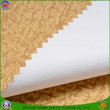 Tela tejida apagón impermeable casero de la cortina del poliester del franco de la materia textil