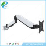 Brazo de aluminio blanco ajustable del montaje del monitor del montaje Ys-Ds312b del escritorio del monitor de la altura de Jeo