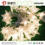 Luz da corda da estrela de 40 diodos emissores de luz para o Natal Xmax (branco morno)