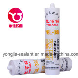 Pegamento de la puerta de cristal/sellante acéticos del silicón (YBL-380)