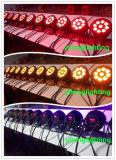 Cubierta de aluminio vendedora caliente 9PCS RGBAW IP65 iluminación exterior