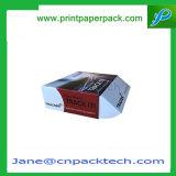 Rectángulo plegable del acondicionamiento de los alimentos de la torta de la magdalena del paquete plano de la E-Flauta del regalo de encargo del papel