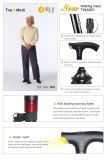Topmedi Handicap Scalable Multi-Functional Intelligent Walking Stick para Idosos