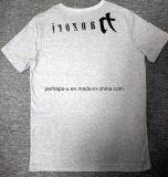 T-shirt en gros de mode d'hommes de coton avec le logo