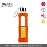 garrafa de água do esporte do vidro de Borosilicate do anel do silicone 540ml