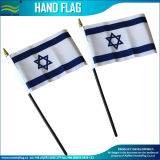 Doppia riga blu di piccola dimensione bandierina tenuta in mano dell'Israele (J-NF10F02023)
