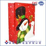 El lujo de encargo del regalo recicla las compras blancas impresas de Kraft del arte o la bolsa de papel del café con la impresión de la insignia