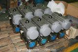 China Válvula de esfera de aço inoxidável flangeada pneumática