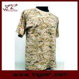 Maglietta tattica militare del manicotto di Short del camuffamento di modo
