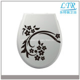 Siège des toilettes résistant décoré d'uF de souillure