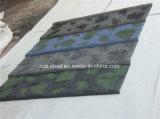 Azulejo de azotea revestido de piedra del metal/hoja de piedra del material para techos