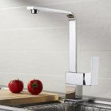 Chromed Square Kitchen Sink Faucet with Ce Approved