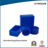 Moulages ronds rectangulaires bleus de silicones de support pour les systèmes moulables