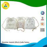 Kundenspezifischer Baumwolljutefaserdrawstring-fördernder Geschenk-Beutel für Verpackung/das Verpacken