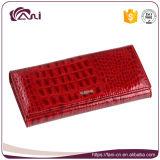 Бумажник крокодила фабрики изготовленный на заказ, бумажник женщин кожаный с высоким качеством