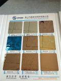 Piatto d'acciaio di colore dell'Ti-Oro dello specchio dello strato dell'acciaio inossidabile SUS304 fatto in Cina