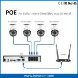 2017 Ce RoHS 3MP Onvif P2p IP 8CH Poe NVR