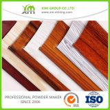 La capa de madera del polvo del grano del efecto de madera se aplicó por proceso del traspaso térmico