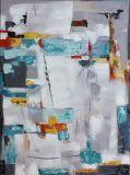 Schnelles Verkaufs-gesetztes abstraktes Segeltuch-handgemachtes Ölgemälde