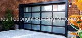 Porta de garagem seccional de vidro e alumínio em policarbonato