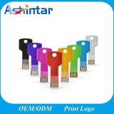 다채로운 소형 금속 USB 기억 장치 지팡이 키 모양 USB Pendrive