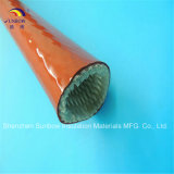 Luvas trançadas do incêndio da fibra de vidro de alta temperatura do silicone da proteção da mangueira 1650c