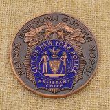 주문 금속 은 지하철 카드 동전 Nypd 도전 동전