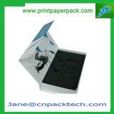 Rectángulo de empaquetado plegable rígido de la joyería de los nuevos rectángulos magnéticos de la manera