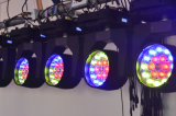 LED 19는 4개의 초점 맨 위 세척 선잠기 점화 DJ 디스코 결혼식 점화를