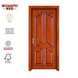 Porta de painel de madeira simples da entrada principal única (GSP2-046)