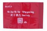 LDPE Zak van de Verbinding van de Post van de Manier van de Rode Kleur van de Douane de Plastic met het Embleem van de Douane