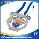 Серебряная медаль пожалования высокого качества изготовленный на заказ с тесемками