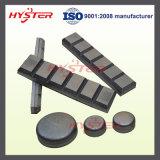 L'usure de extraction partie les barres blanches de Chocky de fer d'usure de barres bimétalliques de protection